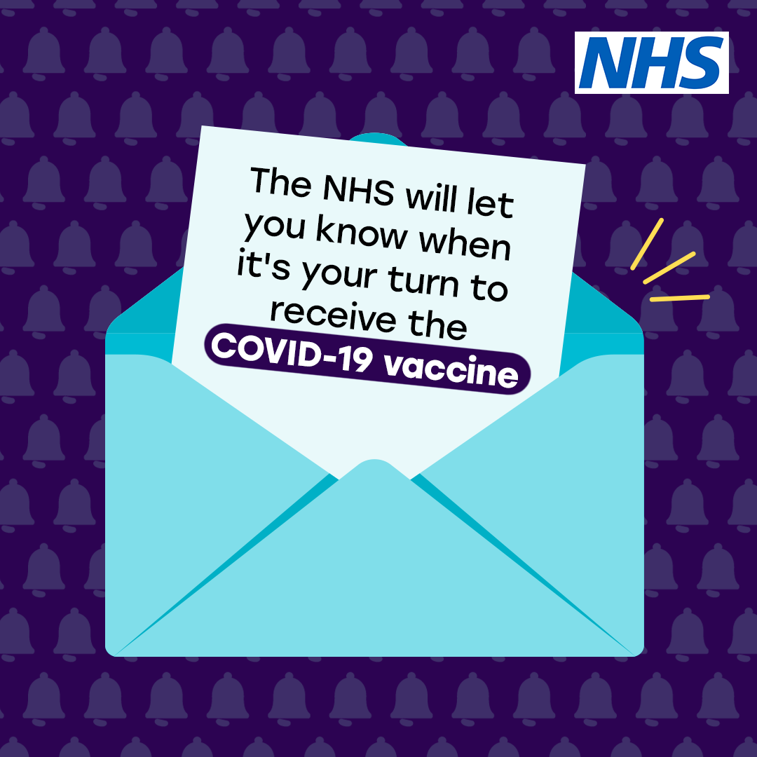 You will be notified when it is your turn to be vaccinated